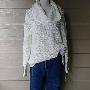 NWT Textured Cowl tunic sweater size large
